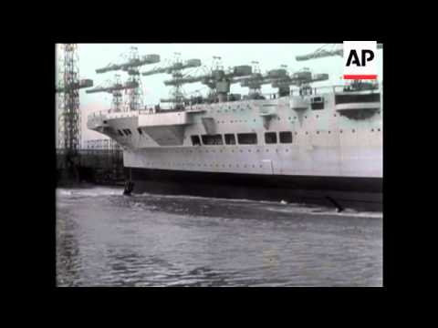 "Launch Of Aircraft Carrier ""Formidable"""