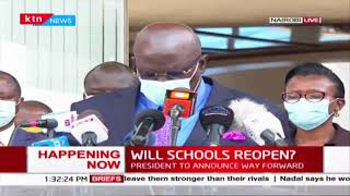 Will schools reopen? CS Education, George Magoha receives report and issues presser | Full Video