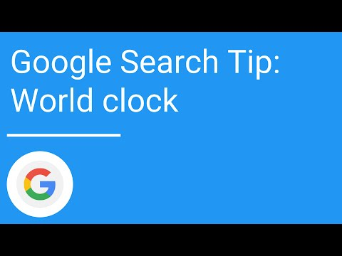 Google Search Tip World Clock Youtube