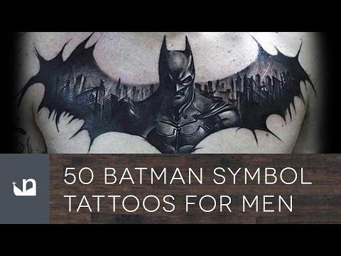50 Batman Symbol Tattoos For Men