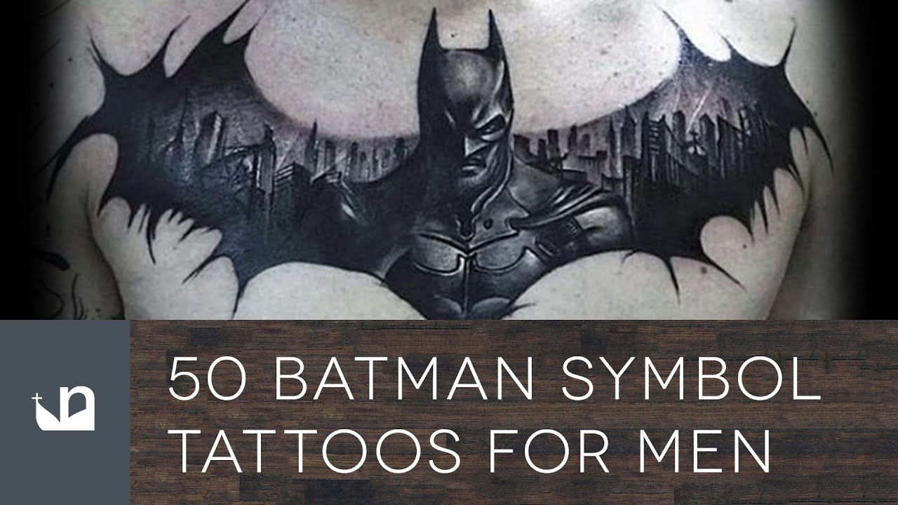 50 Batman Symbol Tattoos For Men Youtube