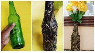 Antique Bottle Art/Bottle Flower Vase