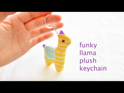 FUNKY LLAMA Plush Keychain- How to Design and Make- easy craft