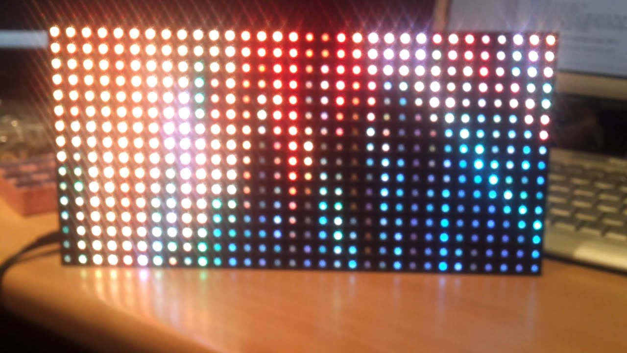 Hackspark Usb Real Time Led Video Panel Demo Youtube