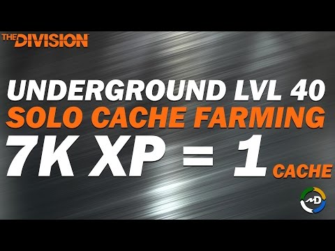 The Division - Underground Caches Farming - Challenging Solo 3 Phase Operation
