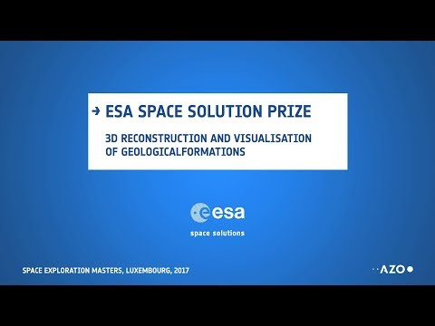 ESA Space Solution prize - 3D reconstruction and visualisation of geological formations