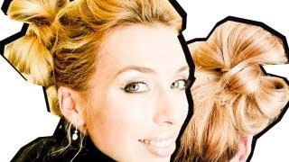 Как сделать:БАНТ из волос. Пучок БАНТ.БЫСТРАЯ причёска(Привет всем! Присоединятесь ко мне на http://www.facebook.com/pages/BeautifulBraids/239275326133641. И выкладывайте на стену фото своих..., 2012-04-09T08:16:06.000Z)