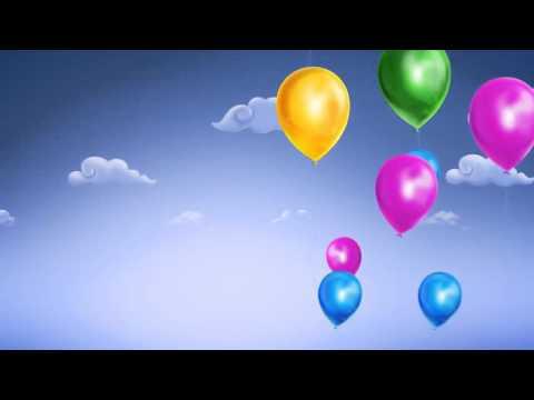 Футажи для видеомонтажа фон воздушные шарики