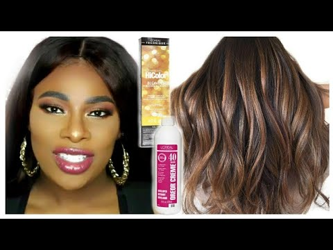 How To Dye Weave From Black To Chocolate Brown With Honey Blonde