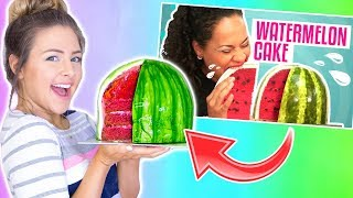 I Tried Following A Youtube Tutorial Watermelon Cake Disaster FAIL