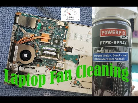 How to Clean a Laptop Fan. with 2 EURO SPRAY