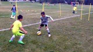 u7 u8 u9 soccer drills with dribbling 1v1 by adam and the spartans youth team