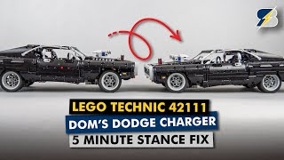 How to fix the stance of LEGO Technic 42111 Dom's Dodge Charger in 5 minutes