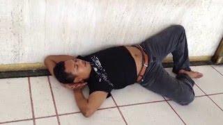 National Mosque sleeping worshiper in Kuala Lumpur