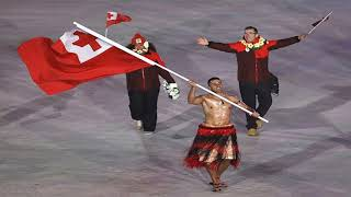 Winter Olympics Opening Ceremony The Tonga Flag Bearer From Rio Is Back & Yes, He's Still Shirtless