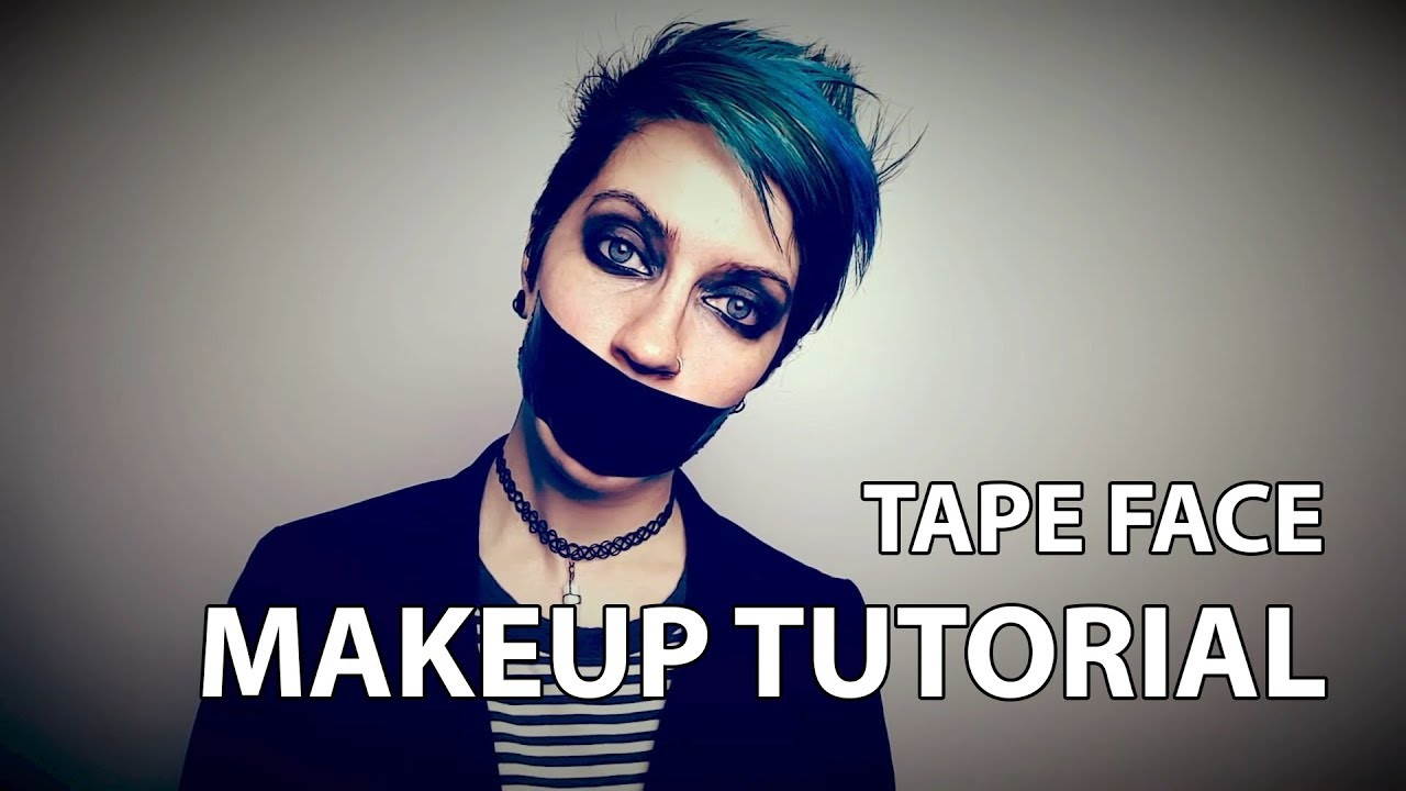 Tape Face Makeup Tutorial (Halloween is coming) - YouTube