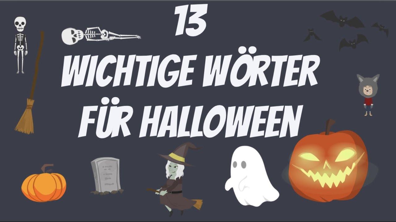 Download Deutsch lernen   Halloween   Wortschatz   Vokabeln   wichtige Wörter  