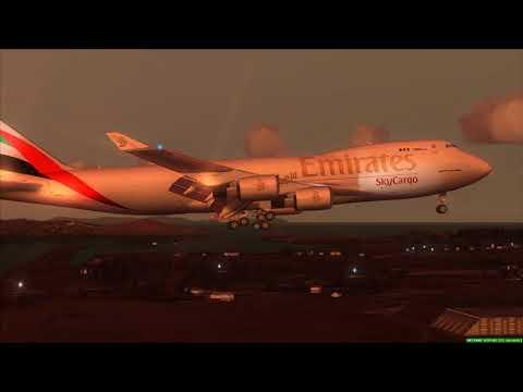 Emirates 747-400F Freighter Landing At Seoul ++ FSX