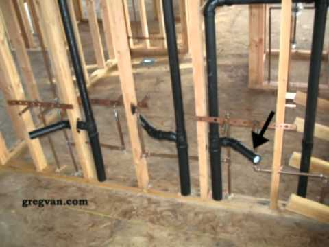 drain stack installation diagram 99 jeep wrangler wiring double bathroom sink - two different rough plumbing methods youtube