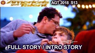 Michael Ketterer & His Children FULL INTRO STORY QuarterFinals 3  America's Got Talent 2018  AGT
