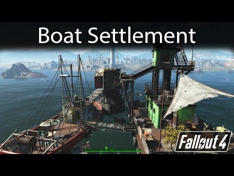 Fallout 4 - Boat Settlement Build