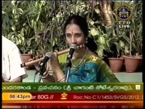 Dr Jayaprada Rammurthy Flute 04 Hindolam SamajaVaragamana T