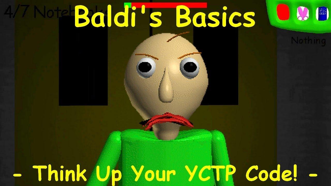 Roblox Baldi Game Codes Baldi S Basics Think Up Your Yctp Code Baldi S Basics V1 4 3 Mod Youtube