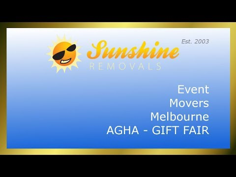 Event Movers Sunshine Removals - AGHA Gift Fair Melbourne