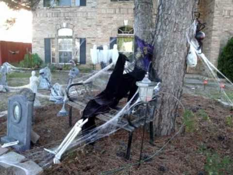 yard haunt halloween decor graveyard 2010 youtube