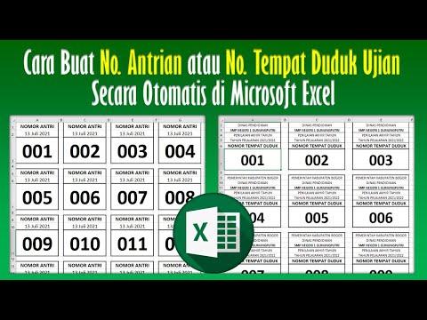 Cara Membuat Nomor Antrian atau Nomor Tempat Duduk Ujian Secara Otomatis...