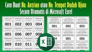 Cara Membuat Nomor Antrian atau Nomor Tempat Duduk Ujian Secara Otomatis di Excel