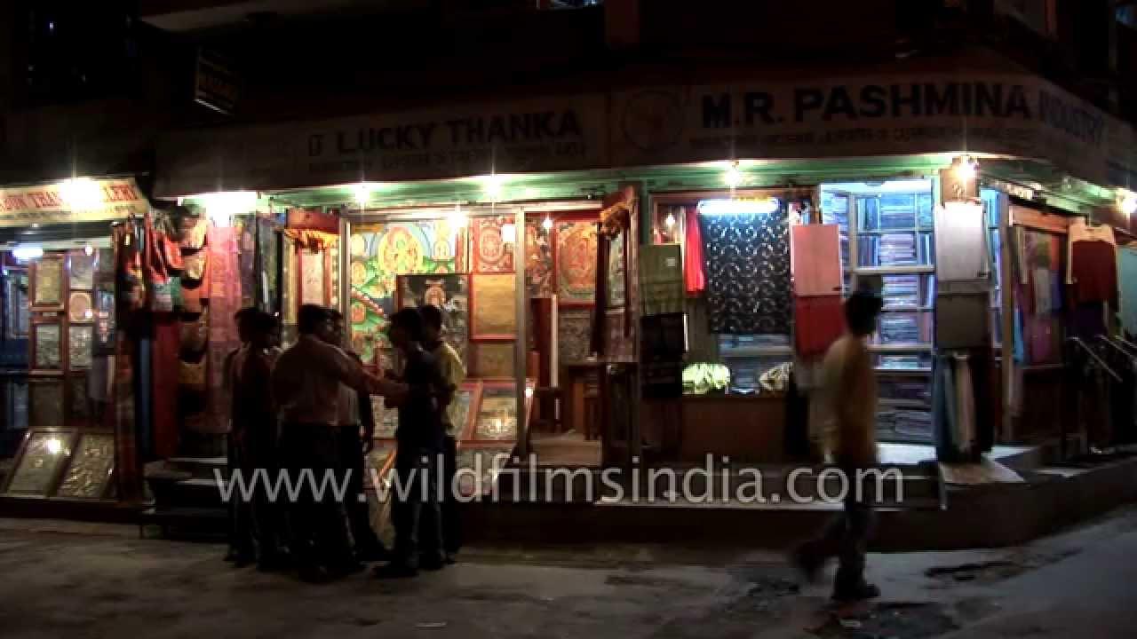 Nightlife on the streets of Thamel - Kathmandu
