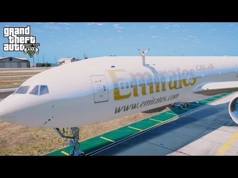 GTA 5 REAL LIFE PRINCE OF DUBAI MOD#4-BUYING FLY EMIRATES!