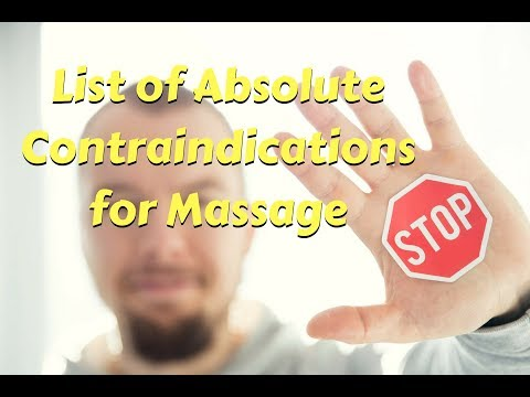 List of Absolute Contraindications for Massage