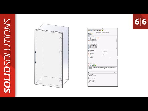 SOLIDWORKS SWOOD Door Design Tutorial - Tips and tricks thumbnail