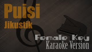 Gambar cover Jikustik - Puisi (Female Key) Karaoke Version | Ayjeeme Karaoke