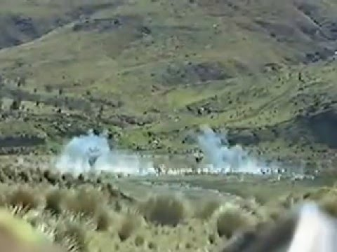 Air Burst Rounds from 2/1 1RNZIR Mortars