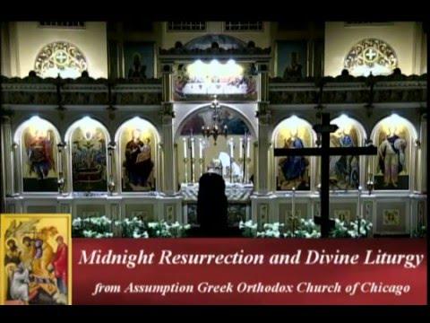 12:00 Midnight Resurrection Service and Divine Liturgy  2016, 5-01