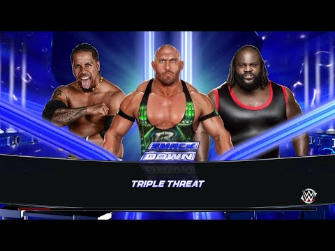WWE 2K15 Jimmy Uso vs RyBack vs Mark Henry  Triple Threat  Match 2015 (PS4) HD