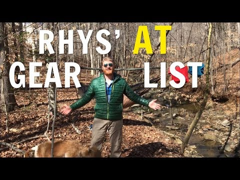 Rhys' Post Appalachian Trail Thru-Hike Gear List Overview