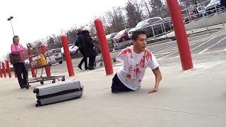 Bloody Body in Suitcase Prank - Best Public Pranks