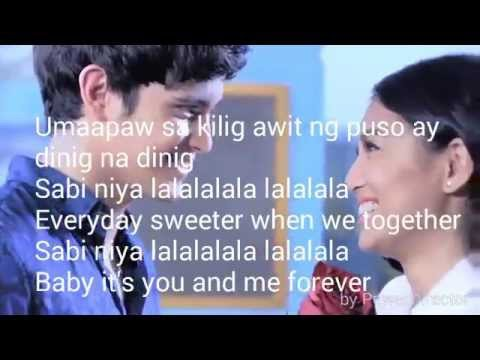 Lyric music video of You & Me forever ft. JaDine