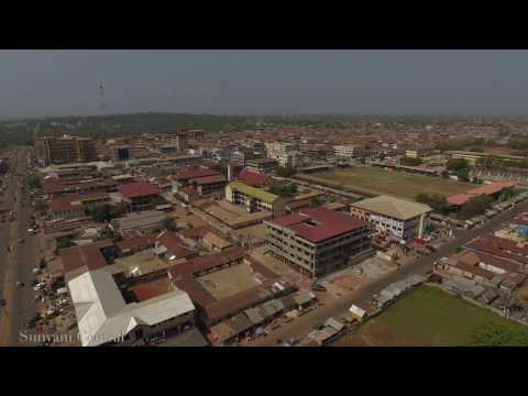 Drone Footage of Sunyani Cocoa House Area