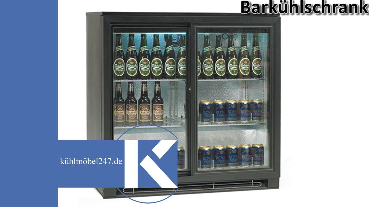 Amerikanischer Kühlschrank Flach : Bar kühlschrank tefcold ba serie kuehlmoebel youtube