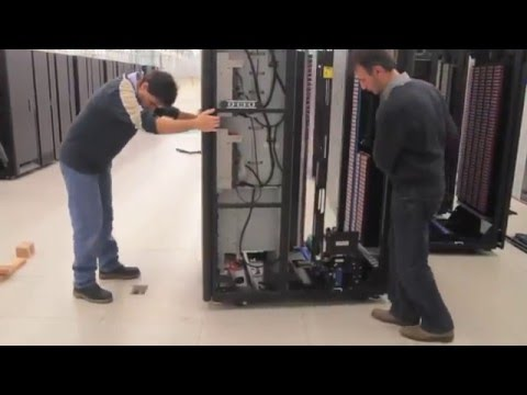 Installation of an IBM TS3500 tape lIbrary at CSCS - YouTube