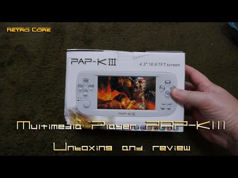 Retro Core - PAP K III Review 60fps (Chinese emulation hand held console)