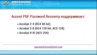 Відновлення PDF паролів в AccentPPR. Інструкція до застосування