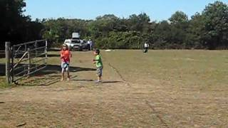 Footbal in Camping Field Hayling Island