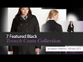7 Featured Black Trench Coats Collection Amazon Fashion, Winter 2017