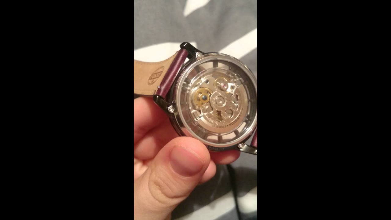 Youtube Automated Cms By Teedeskdev: SKELETON FOSSIL AUTOMATIC WATCH